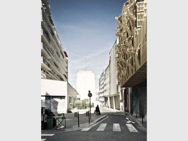 Une façade dans une rue passante - projet amelot
