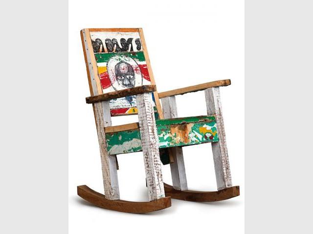 Chaise à bascule Balancin - Mobilier bois de bateau