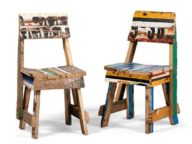 Chaise Kaolack - Mobilier bois de bateau