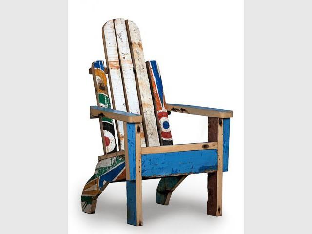 Fauteuil Palmarin - Mobilier bois de bateau