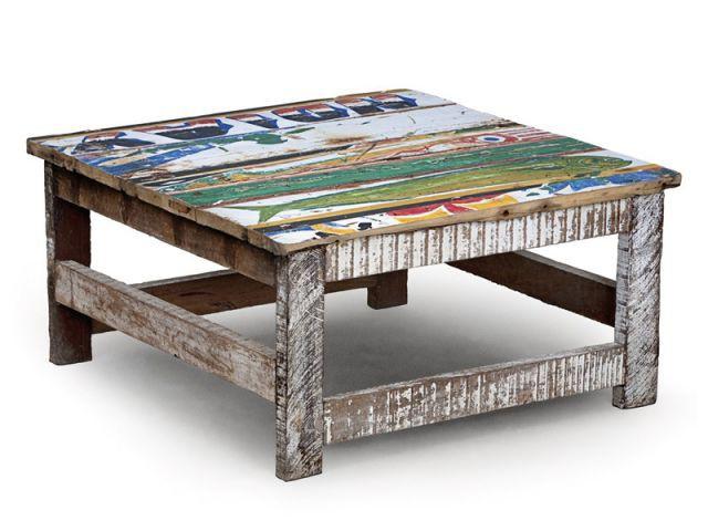 Table Yoff  - Mobilier bois de bateau