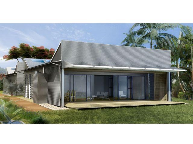 2 maisons bioclimatiques adapt es au climat tropical for Prix container martinique