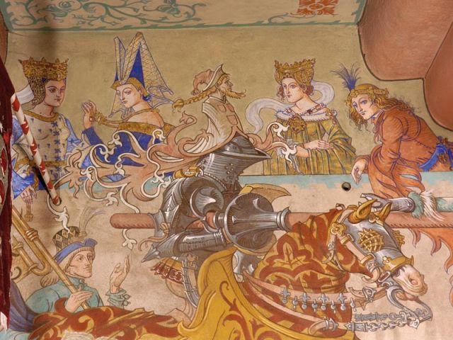 Fresques de la salle impériale - Château du Haut Koenigsbourg
