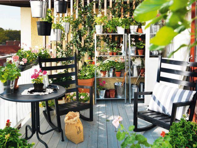"Ambiance ""Atelier de jardinier"" - balcon"