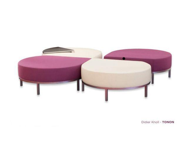 Take your time, poufs - Design D. Knoll pour Tonon