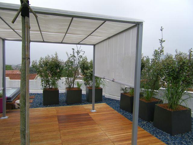 Une pergola moderne - terrasse