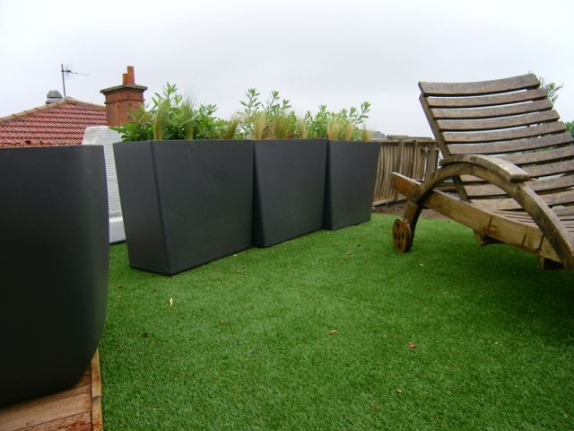 Des contenants design - terrasse