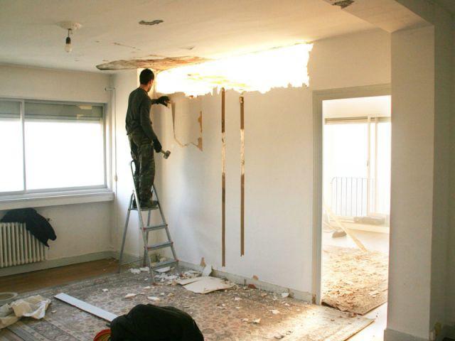 Cloison démolie - Rénovation appartement à Lyon