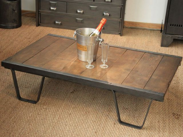 Fabriquer meuble indus for Table style usine