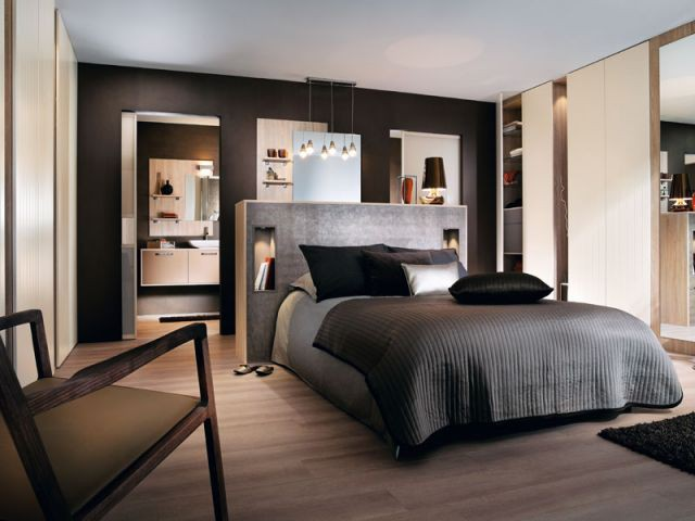 des id es pour une t te de lit originale. Black Bedroom Furniture Sets. Home Design Ideas