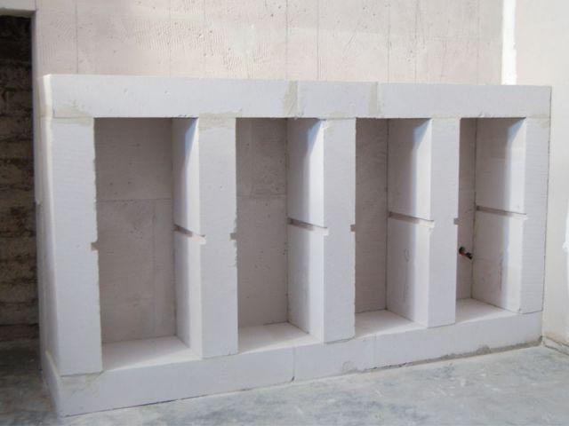 Créer l'assise - Cave à vin Siporex