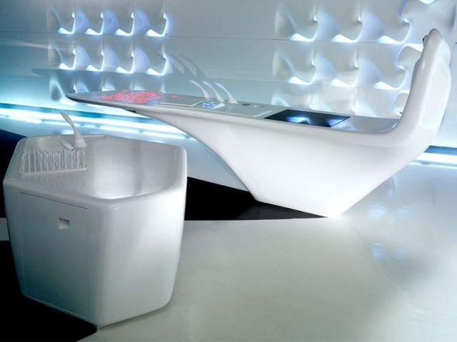 Une cuisine intelligente aux formes organiques - DuPont™ Corian®