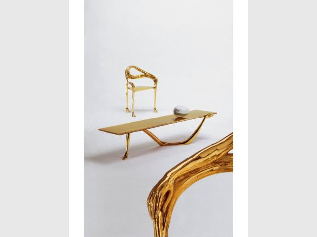 Chaise et table Leda - Salvator Dalí, designer