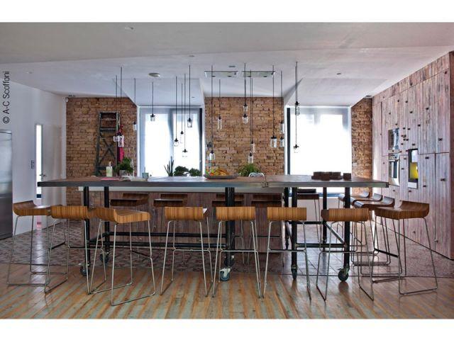 Une cuisine au style industriel - Duplex Carlos Pujol