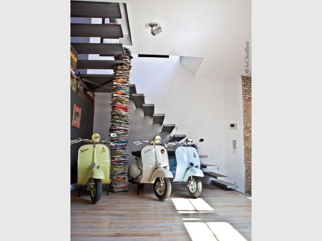 Recyclage et comics dans les pièces à vivre - Duplex Carlos Pujol
