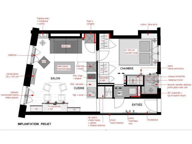 Cheap nouveau plan m optimiss dans les moindres recoins for Amenagement cuisine 10m2
