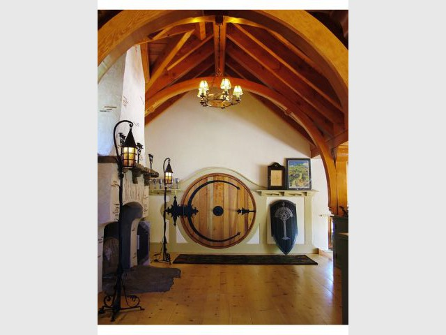 Habiter une v ritable maison de hobbit for Porte hobbit