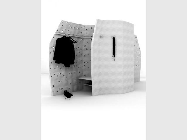 Eléments techniques intégrés - François Burment Habitat imprimé
