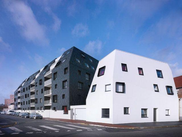 icebergs noir et blanc pour des logements sociaux. Black Bedroom Furniture Sets. Home Design Ideas