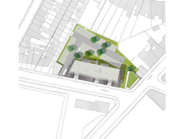 Icebergs noir et blanc pour des logements sociaux for Plan masse architecture