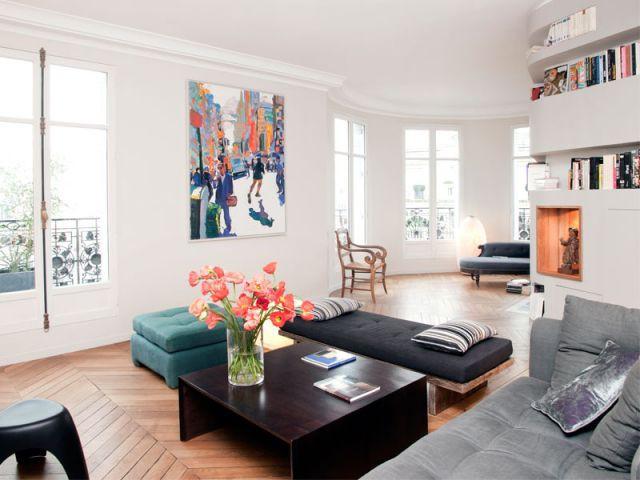 Coin salon - Appartement rénovation 7ème arrondissement / Agence Demont Reynaud /PPil