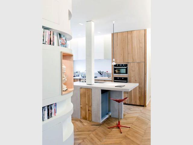 Touches de bois - Appartement rénovation 7ème arrondissement / Agence Demont Reynaud /PPil