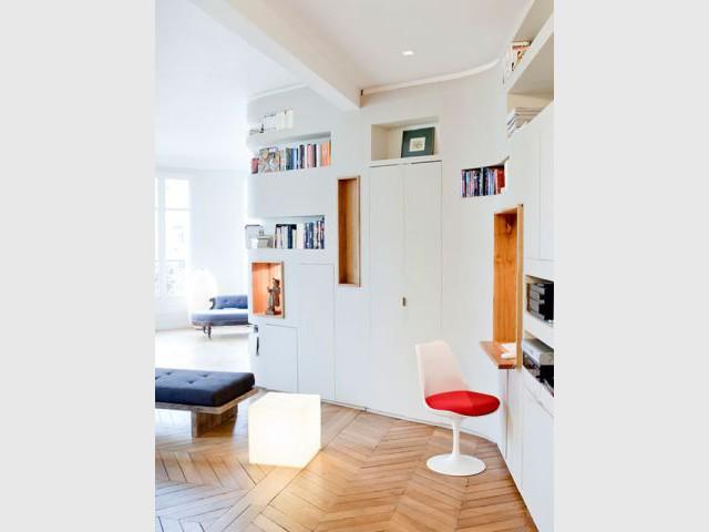 Un mur aux courbes tendues - Appartement rénovation 7ème arrondissement / Agence Demont Reynaud /PPil