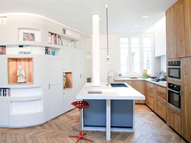 La cuisine - Appartement rénovation 7ème arrondissement / Agence Demont Reynaud /PPil
