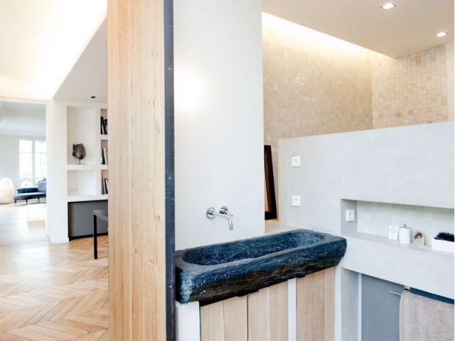 Bloc sanitaire - Appartement rénovation 7ème arrondissement / Agence Demont Reynaud /PPil