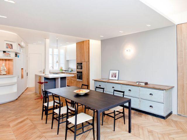Perspective - Appartement rénovation 7ème arrondissement / Agence Demont Reynaud /PPil