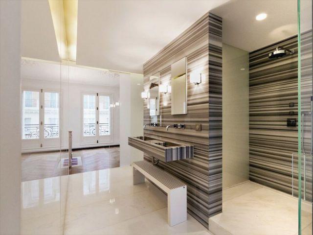 1 appartement haussmannien rena t avec style for Suite parentale traversante