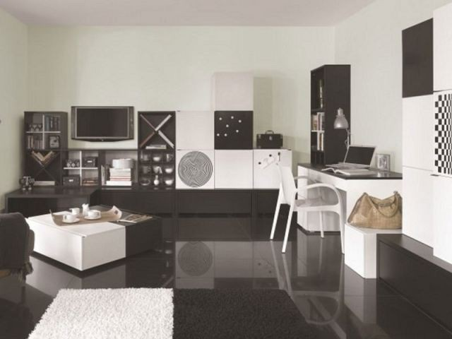 am nager un coin bureau dans son salon. Black Bedroom Furniture Sets. Home Design Ideas