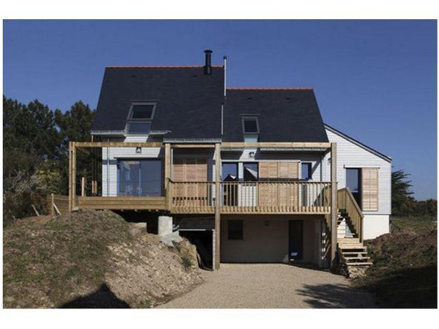 Triple volume - maison bioclimatique Bretagne