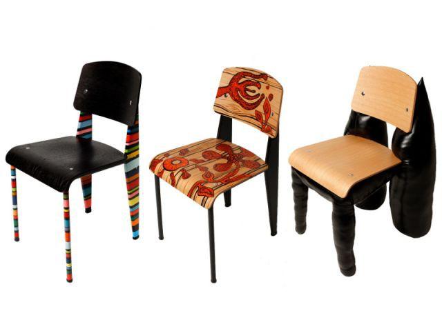 Extrêmement 50 designers revisitent la chaise Standard de Jean Prouvé EM85