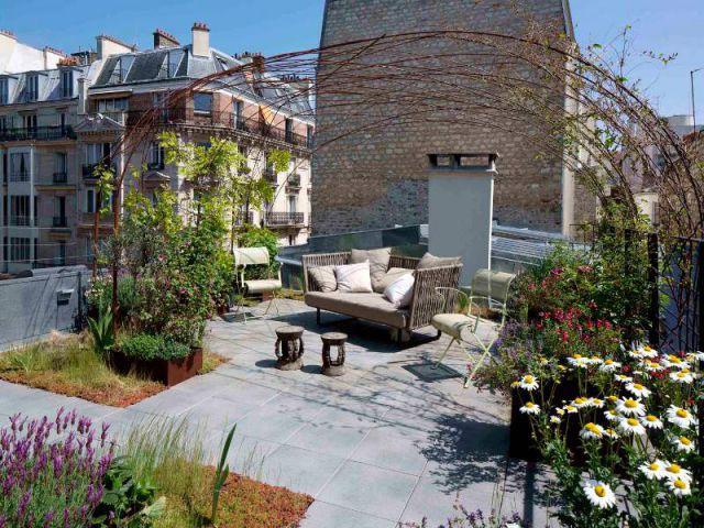 1 toit terrasse transform en cocon v g tal et apaisant Amenagement toit terrasse