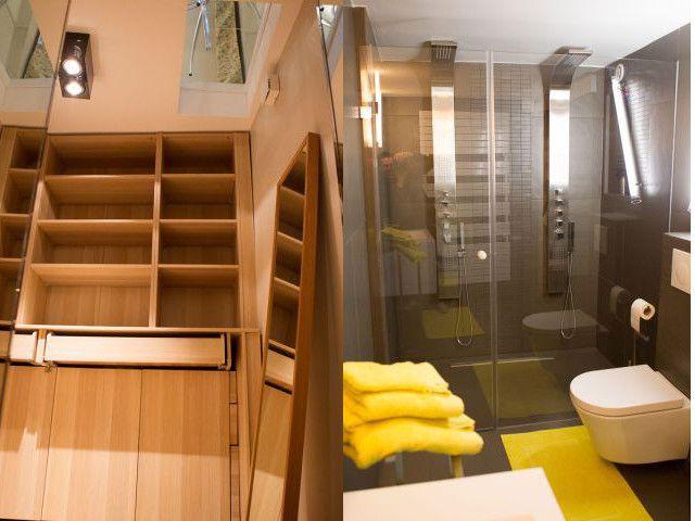 Dressing et salle de bains au sous sol