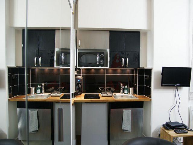 Am nager un coin cuisine dans un studio 10 kitchenettes for Sejour cuisine 30m2