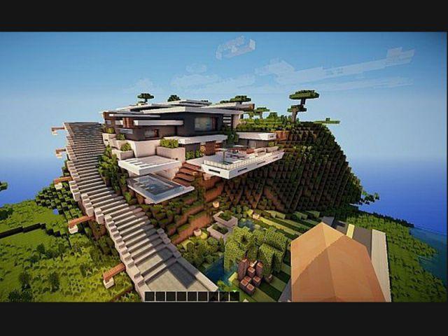 Moutain modern house - Video minecraft construction ...