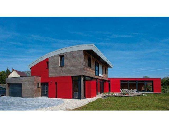 une maison passive avec piscine aux formes arrondies maisonapart. Black Bedroom Furniture Sets. Home Design Ideas
