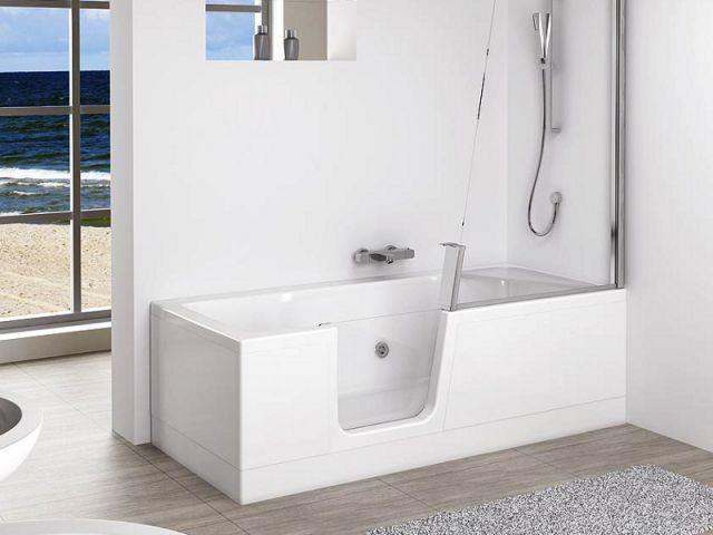 une baignoire avec porte d 39 acc s. Black Bedroom Furniture Sets. Home Design Ideas