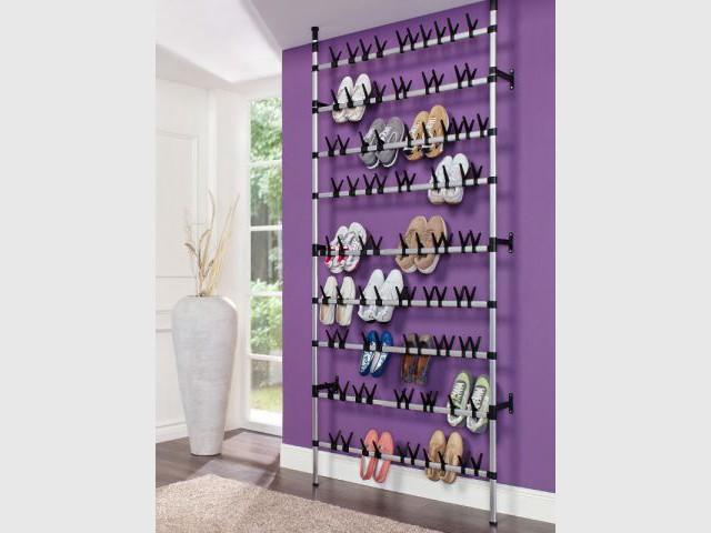 Douze solutions astucieuses pour ranger ses chaussures - Fabriquer etagere chaussure ...