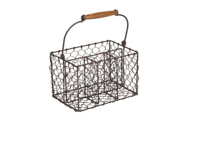 Un porte-couverts en métal pour une cuisine rustique - Dix solution de rangement pour sa vaisselle