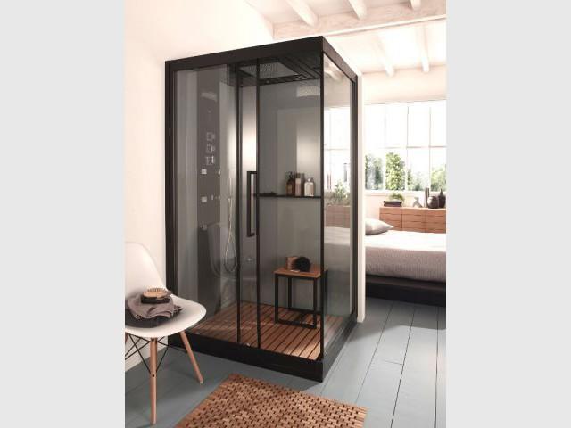 Une suite parentale autour d 39 une cabine de douche maisonapart for Cabine de douche castorama