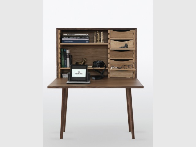 meuble bureau ferme avec tablette rabattable valdiz. Black Bedroom Furniture Sets. Home Design Ideas