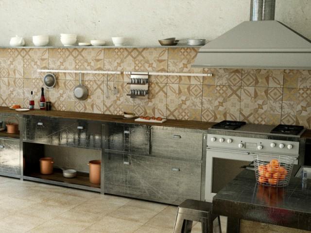 des carreaux de ciment en cr dence de cuisine maisonapart. Black Bedroom Furniture Sets. Home Design Ideas