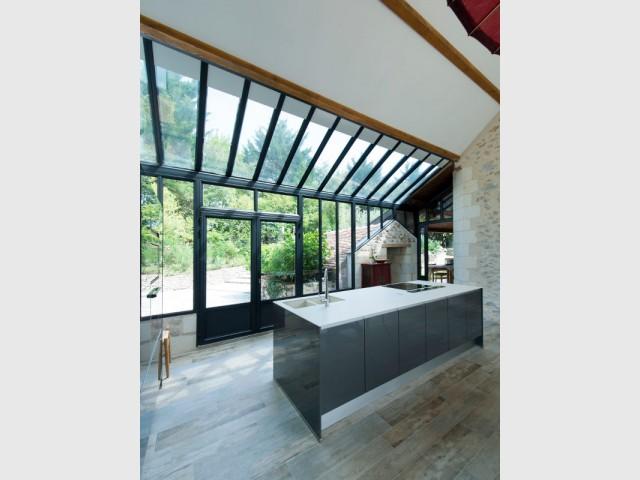 Bien-aimé Extension maison : une véranda imbriquée entre 3 bâtiments existants QB01