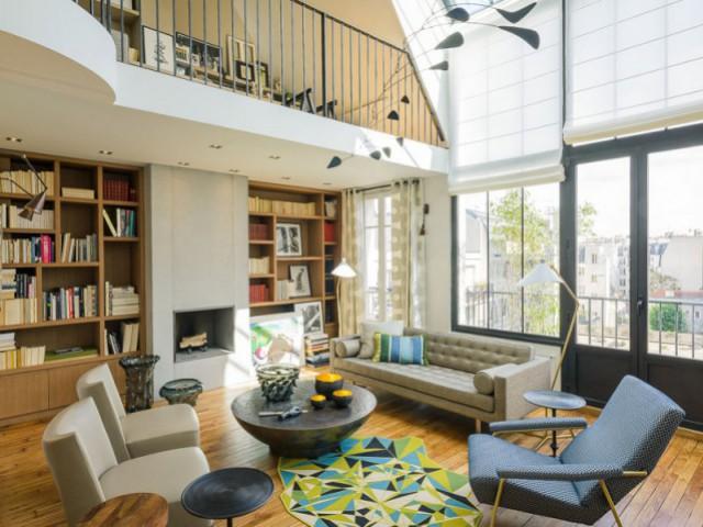 1 ancien atelier d 39 artiste transform en duplex moderne et lumineux - Atelier a renover paris ...