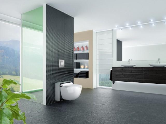 une salle de bains avec une cabine de douche intimiste maisonapart. Black Bedroom Furniture Sets. Home Design Ideas