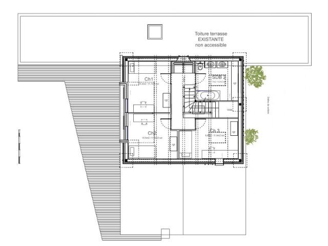 Un étage réservé aux enfants - Surélévation d'un pavillon francilien