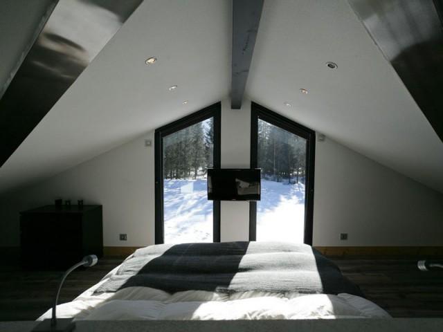 1 chalet aux lignes architecturales for Chambre 9 chamonix